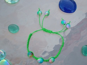 First bracelet design where three beads represent the Holy Trinity.  Trinity Jewelry by Design begins August 2012