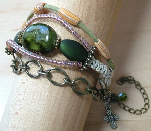 Boho Macramé and Mixed Media Bracelet From Trinity Jewelry by Design