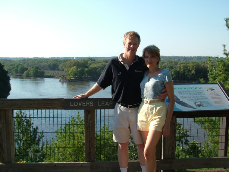 Steve and Julie looking out over Lover's Leap, Starved Rock State Park, Illinois