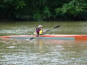 Julie in her Think Fit sea kayak