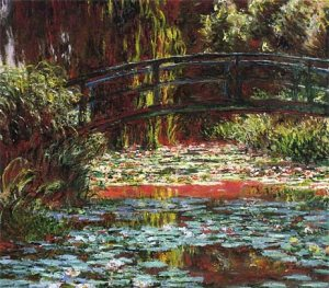 Monet Japanese bridge at giverny