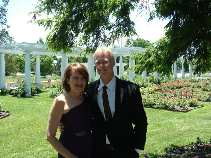 My beloved and me at Lakeside Rose Garden, Fort Wayne, Indiana