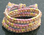 Threads of Hope triple-wrapped friendship bracelet