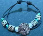 Handmade and adjustable double leather wrap bracelet