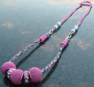 Breast Cancer Awareness Adjustable Necklace