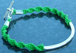 Lyme Disease Awareness Bracelet with Spirochete Design