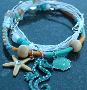Friendship Necklace or Bracelet with Seahorse Charm