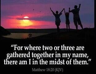 Matthew 18.20 Two Gathered in Prayer