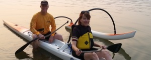 outrigger canoe, tandem canoe, padding with your spouse, OC-2, tandem outrigger canoe, Hawaiin boat, HUKI, learning to paddle, learning to lead, learning to submit, follow the leader