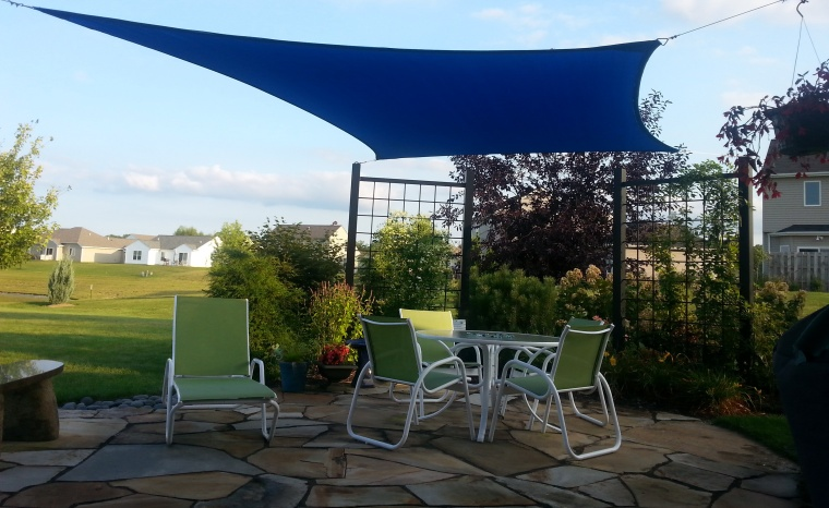 shade sail patio summer 2015