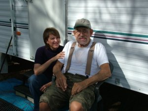 Dad & me at his trailer