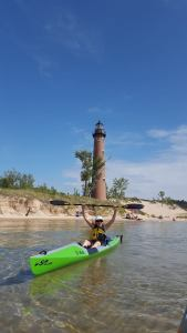 Dunes Harbor, Sleeping Bear Dunes, lighthouse, just julie writes, Julie Horney