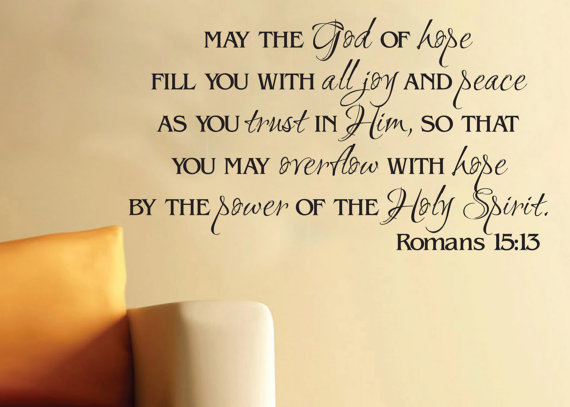 Romans, 15.13, hope, encouragement, joy, peace, scripture, blog, overcomer, endurance, power of the Holy Spirit, Holy Spirit