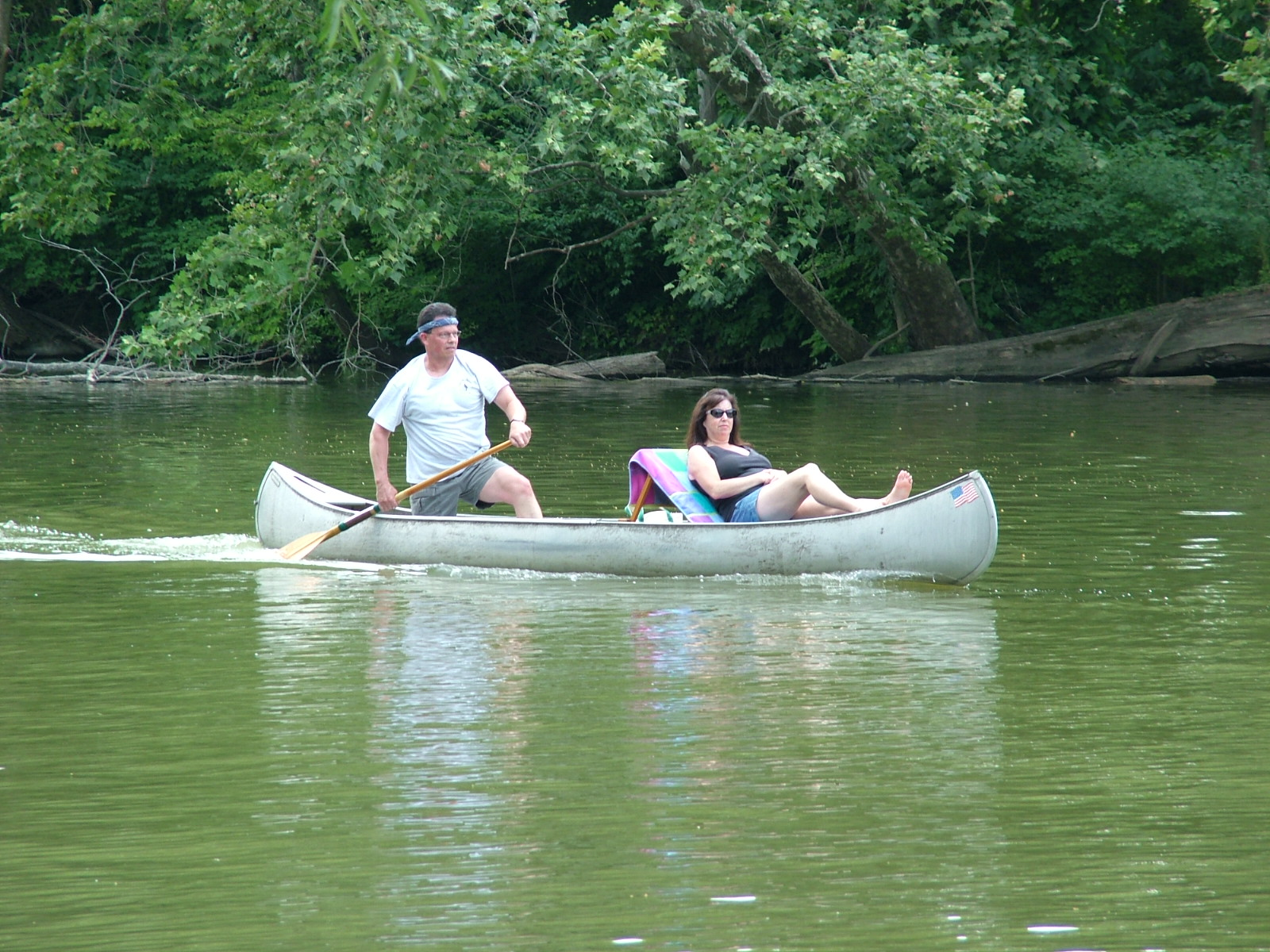 Fort Wayne, canoe, wife, husband, paddling, high knee, marriage, partners