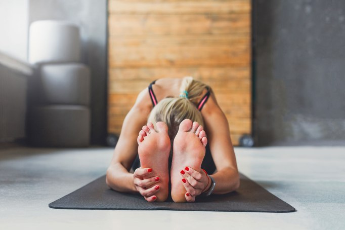 Holy Yoga, pose, woman, mat, Christian, blog, evaluate, discernment