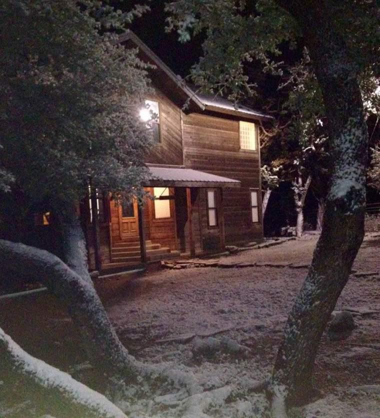 winter, texas, scene, snow, through the trees, wood shingles, Christmas, remembering, memories