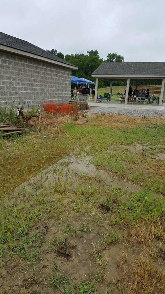 flooding, Huntertown Park, community, project, rain garden